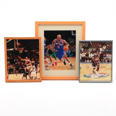 Framed Signed New York Knicks Photos
