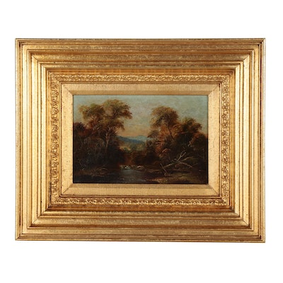 Daniel C. Grose Landscape Oil Painting, Late 19th Century