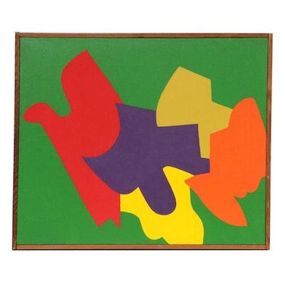 "Elizabeth Blumenthal Acrylic Painting ""Flight,"" 1971"