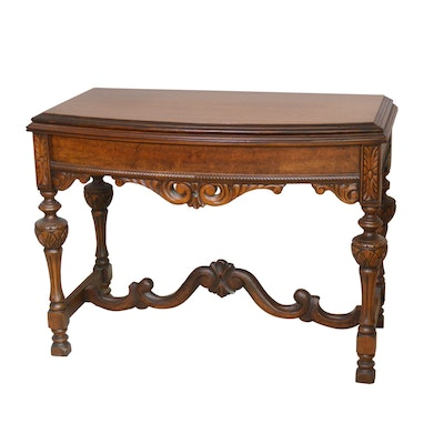 Jacobean Style Walnut Accent Table, Mid to Late 20th Century