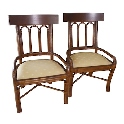 Ficks Reed Rattan Dining Side Chairs, Mid-20th Century
