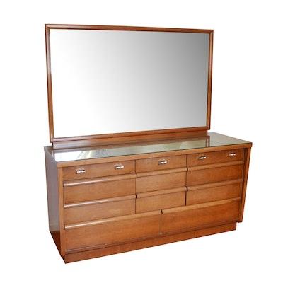 Cavalier Fine Furniture Maple Dresser with Mirror, 1960s