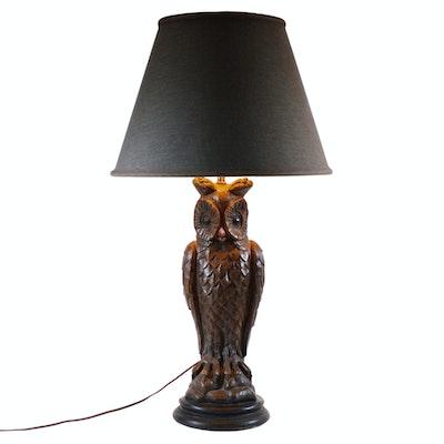 Ceramic Standing Owl Table Lamp