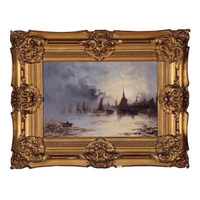 Nautical Oil Painting, 19th Century