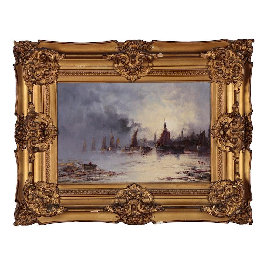Nautical Oil Painting, 19th Century