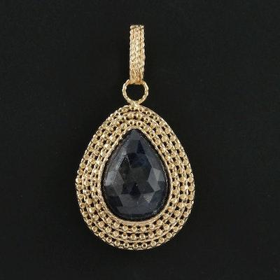 14K Yellow Gold Corundum Pendant