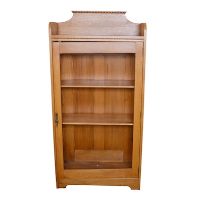 Oak Single Door Cupboard, Early 20th Century