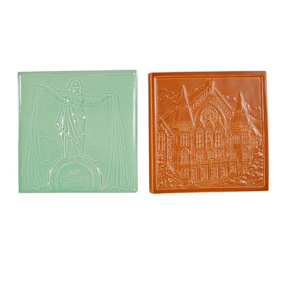 Rookwood Pottery Tyler Davidson Fountain World Choir Games and Music Hall Tiles