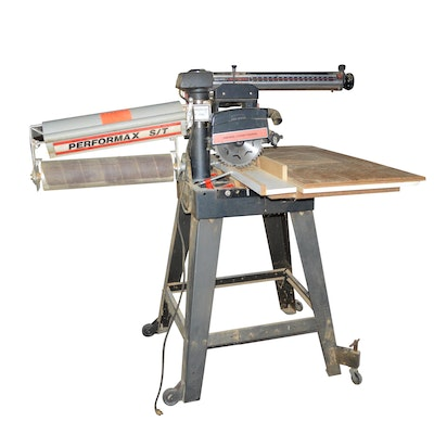 "Craftsman 10"" Radial Arm Saw with Performax S/T Drum Sander"