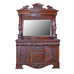 Victorian Mirrored Mahogany Buffet/Sideboard, Late 19th/Early 20th Century