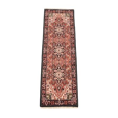 2'6 x 8'2 Hand-Knotted Indo-Persian Heriz Serapi Wool Carpet Runner