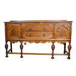 Jacobean Style Oak Buffet, Early to Mid 20th Century
