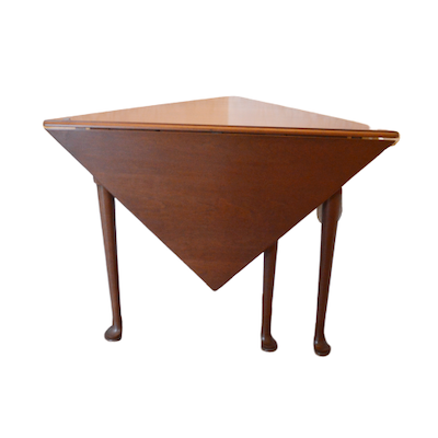 Queen Anne Style Cherry Handkerchief Table, Mid 20th Century
