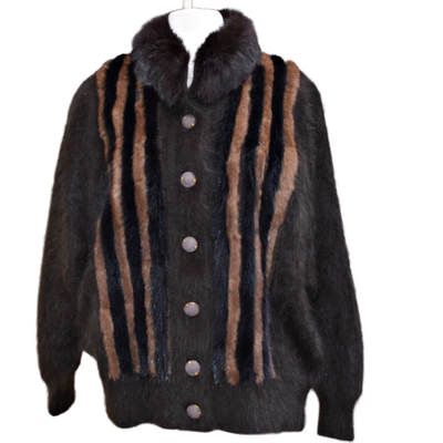 Radzoli by Fully Fashion Rabbit Fur/Angora and Acrylic Coat, Late 20th Century
