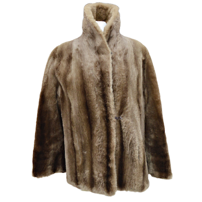 Sheared Beaver Fur Coat, Late 20th Century