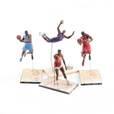Chris Paul, Vince Carter and Dominique Wilkins Action Figures