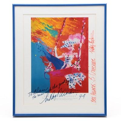 Framed LeRoy Neiman, Bob Guccione and Kathy Keeton Signed Print