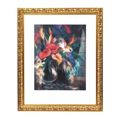"Offset Lithograph on Paper After Yuriko Takata ""Vase de Fleur"""