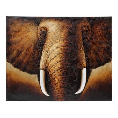 "IMAX Worldwide Giclée on Canvas ""Tusks"""