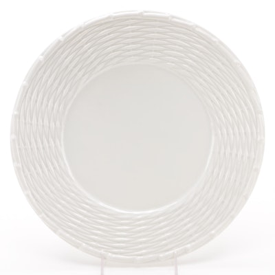 Tiffany & Co. Round Platter with Basket Weave Rim
