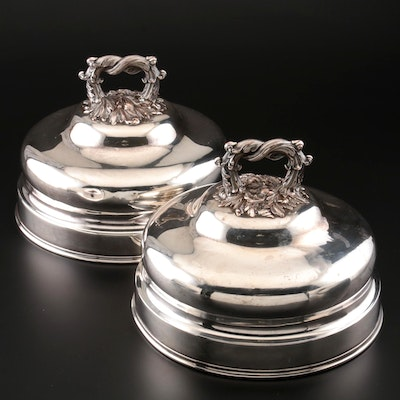 Charles Balaine of Paris Silver Plate on Copper Cloches, Early/Mid-19th Century