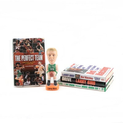 Larry Bird Book Collection with S.A.M.'s Limited Edition Bobblehead