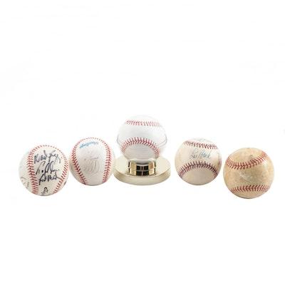 Five Signed Baseballs