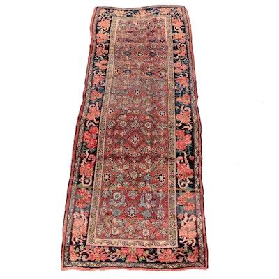4'1 x 10'8 Hand-Knotted Persian Bijar Wool Long Rug