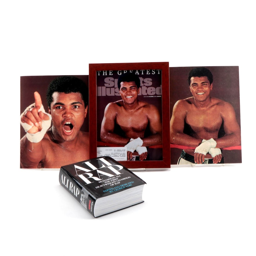 """First Edition """"Ali Rap"""" with Framed Sports Illustrated Cover and Posters"""