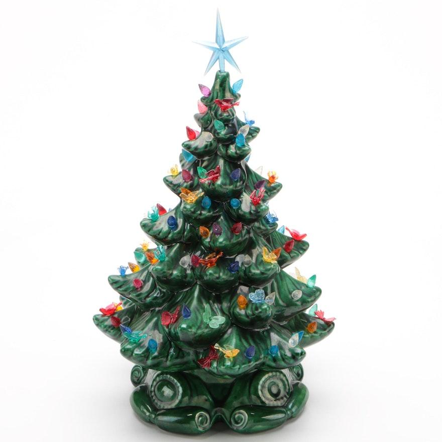 Illuminated Ceramic Christmas Tree, 1980