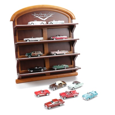 "Franklin Mint Diecast ""The Classic Cars of the Fifties"" with Display Unit"