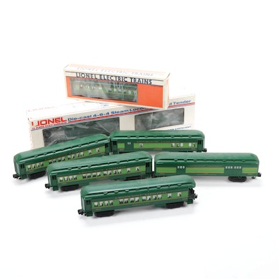 "Lionel O-Gauge ""Southern Crescent"" Steam Locomotive and Passenger Cars, 1970s"