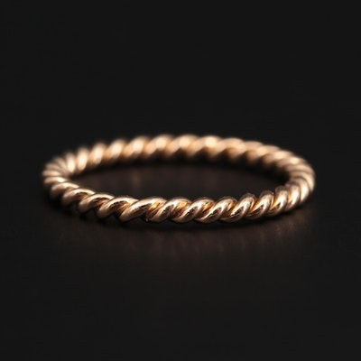 18K Yellow Gold Twisted Band
