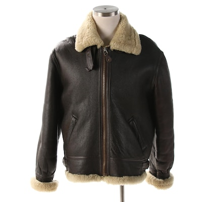 Fedeless Military Inc. Type B-3 Dark Brown Shearling Flight Jacket
