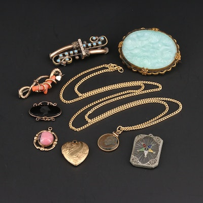 Victorian and Vintage Jewelry Featuring Ancient Roman Widow's Mite Coin