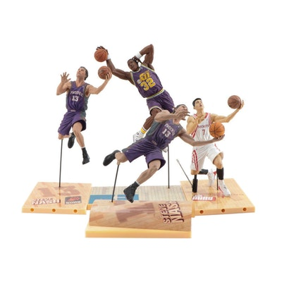 Malone, Nash and Lin Basketball Action Figures