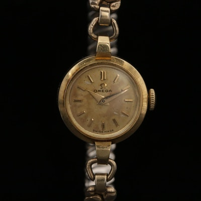 Vintage Omega 14K Yellow Gold Trésor Stem Wind  Wristwatch, Circa 1952