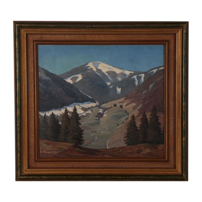 Landscape Oil Painting of Alpine Scene