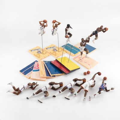 NBA Figures with Stands and Boards