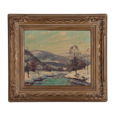 Landscape Oil Painting of Winter Scene