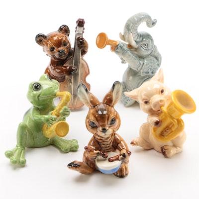 Goebel Porcelain Figurines of Animals Playing Instruments, 1979–1991