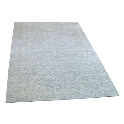 9' x 12' Hand-Knotted Indian Wool Rug from The Rug Gallery