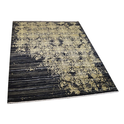 9' x 12' Hand-Knotted Indian Wool and Silk Rug from The Rug Gallery