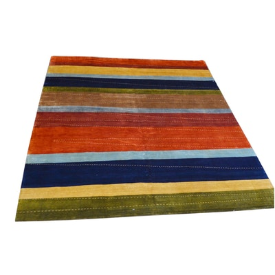 9' x 12' Hand-Knotted Indian Tibetan Wool Rug from The Rug Gallery