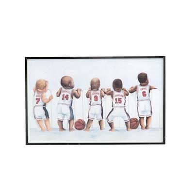 "Framed ""Dream Team"" Kenneth Gatewood Print"