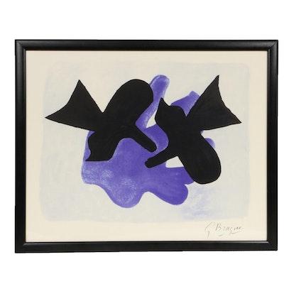 "Color Lithograph after Georges Braque ""Oiseaux"", 20th Century"