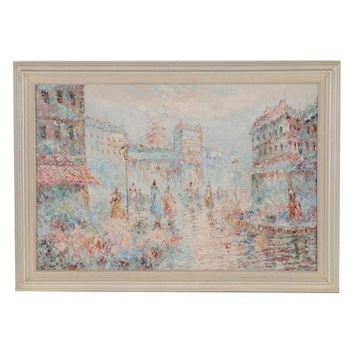 Parsian Street Scene Oil Painting