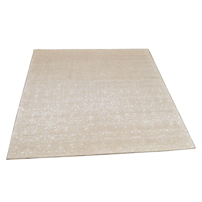 8' x 10' Hand-Knotted Indian Wool and Viscose Rug from The Rug Gallery