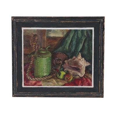 Dorothy Breckenridge Still Life Oil Painting, Mid 20th Century