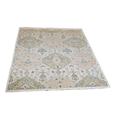 8' x 10' Hand-Knotted Indo-Persian Panel Wool Rug from The Rug Gallery